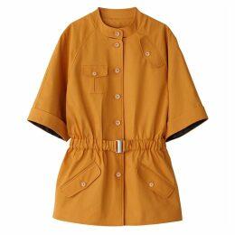 Short-Sleeved Straight Cut Utility Jacket