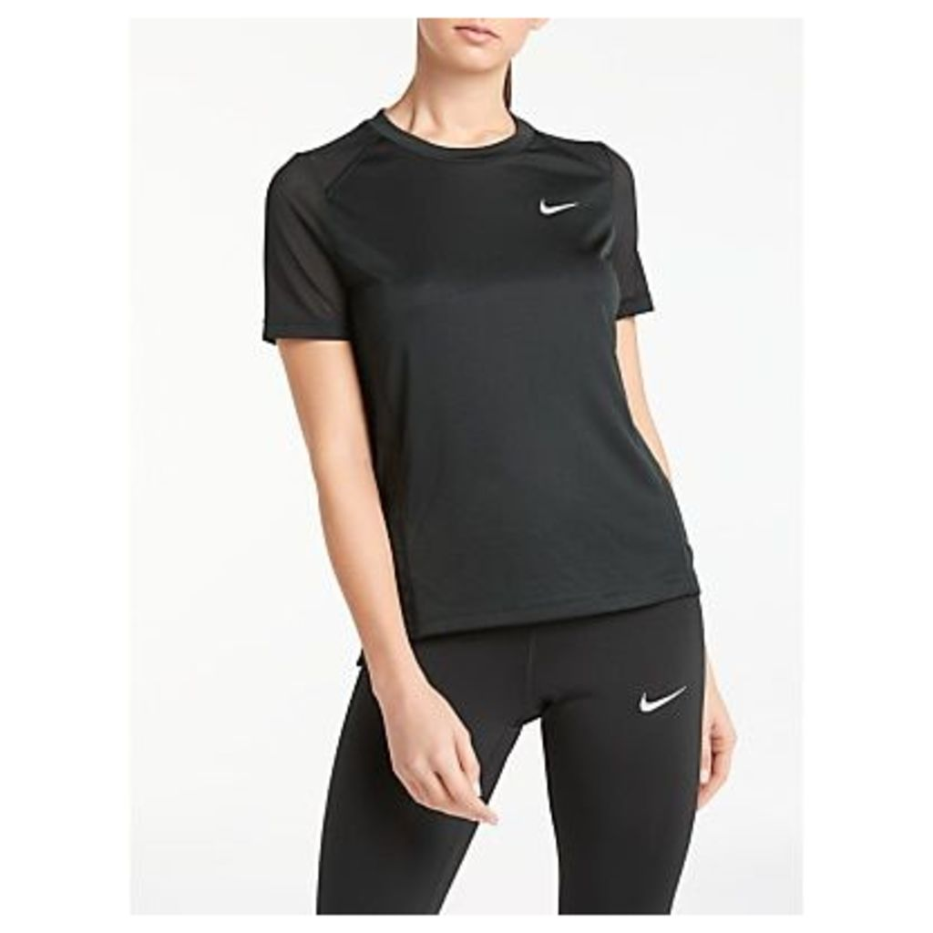 Nike Miler Short Sleeve Running Top, Black