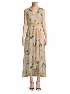 Floral Hi-Lo Sleeveless Dress