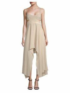 Cut-Out Sweetheart Midi Dress