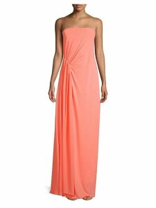 Strapless Pleated Long Dress