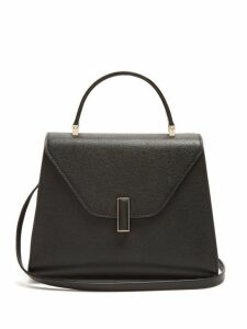 Valextra - Iside Medium Grained Leather Bag - Womens - Black