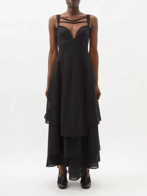 The Row - Scoop Neck T Shirt - Womens - Black