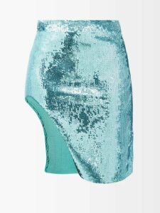 Figue - Svana Geometric Embroidered Cotton Dress - Womens - White Multi