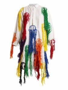 Kilometre Paris - Sao Paulo Campana Brothers Linen Shirtdress - Womens - White Multi