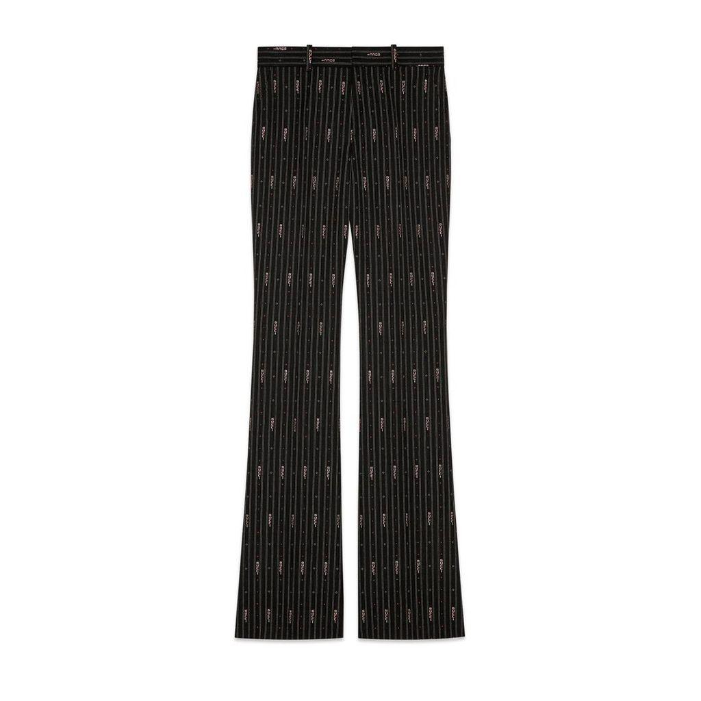 Gucci stripe fil coup wool pant
