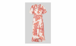 Palmyra Print Wrap Dress