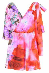 MSGM Printed Silk Dress