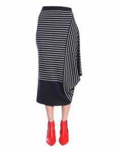 J.W. Anderson Striped Asymmetric Skirt