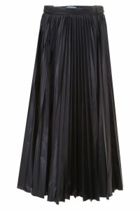 Prada Linea Rossa Pleated Nylon Skirt