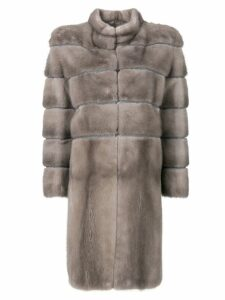 Liska padded fur coat - Grey