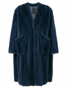 Liska Virginia fur coat - Blue