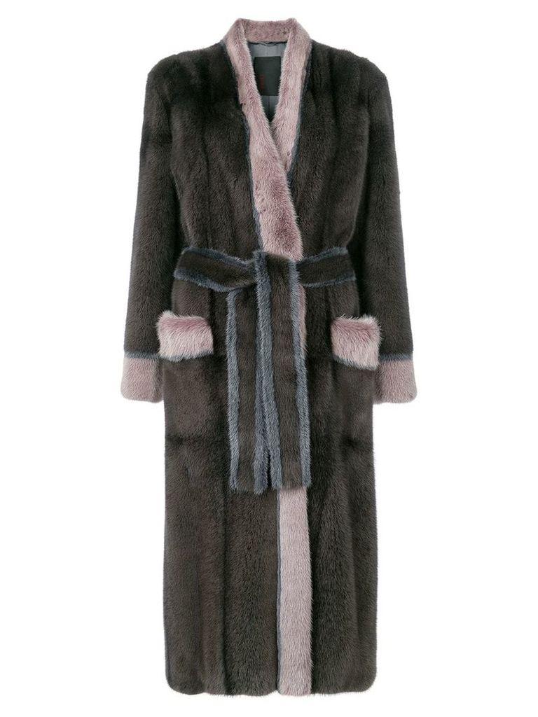 Liska Blanka fur coat - Brown