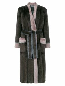 Liska Blanka fur coat - Brown