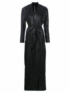 Olsthoorn Vanderwilt belted long coat - Black