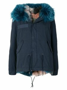 Mr & Mrs Italy fur lined short parka - Blue