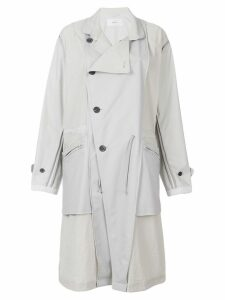 Julien David panel parka coat - White