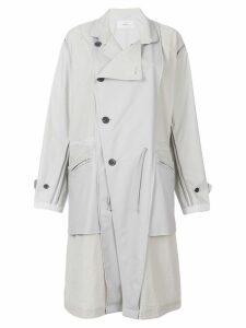 Julien David panel parka coat - White