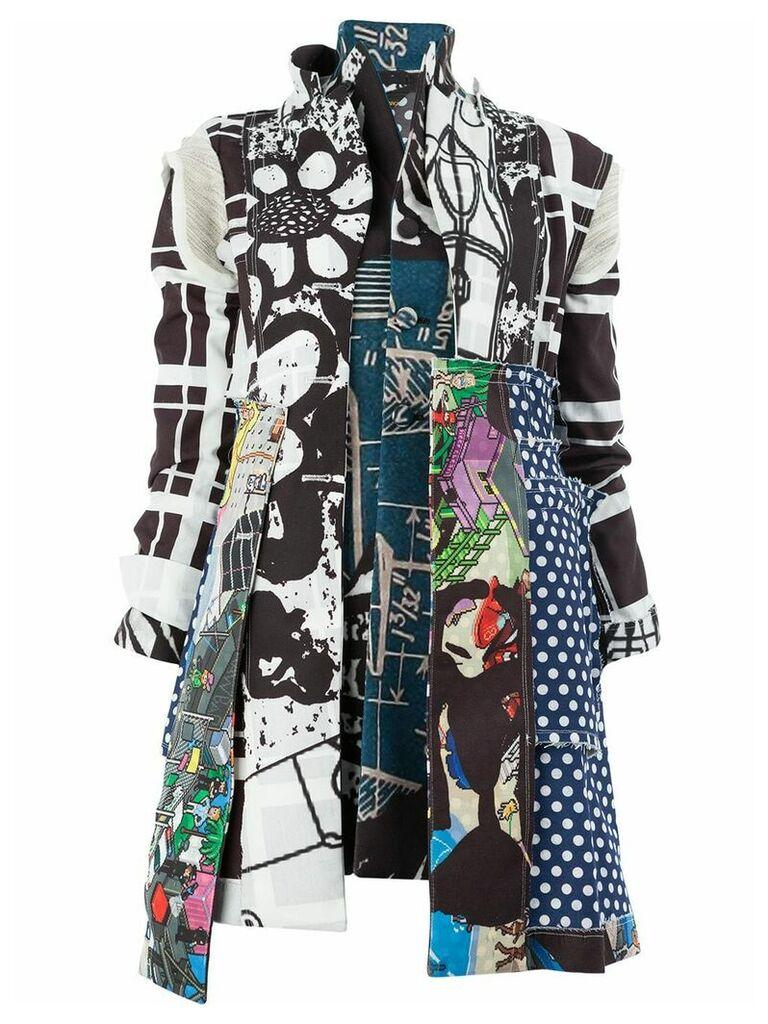 Comme Des Garçons patchwork coat - Black