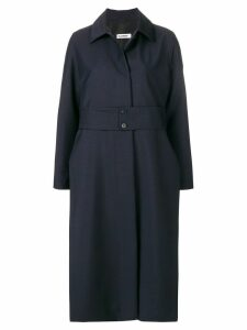 Jil Sander embellished oversized coat - Blue