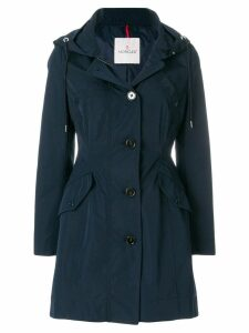 Moncler zipped fitted coat - Blue