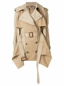 Alexander McQueen layered trench coat - Brown