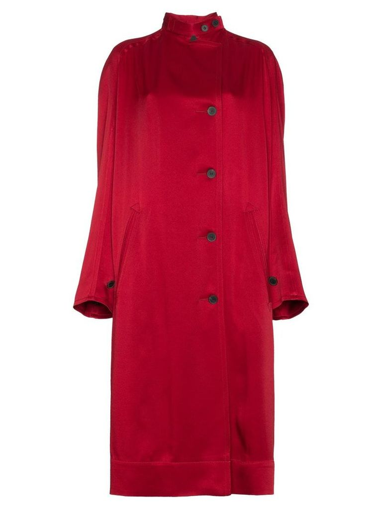 Haider Ackermann single breasted raglan sleeve coat - Red