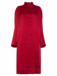 Haider Ackermann single breasted raglan sleeve coat - Red