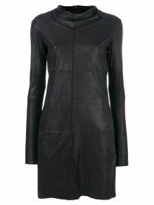 Vanderwilt draped neck short dress - Black