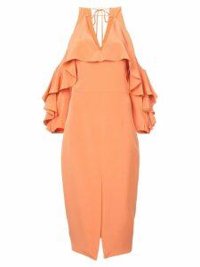 Cushnie Aura cold shoulder dress - Yellow