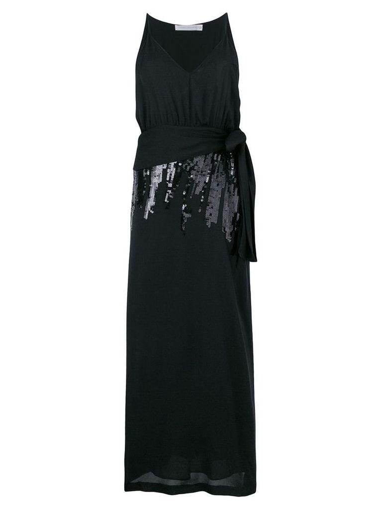 Victoria Beckham sequin V-neck dress - Black