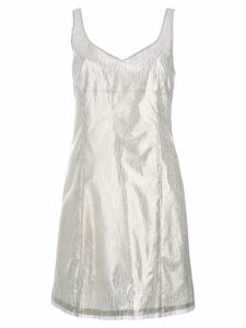 Julien David round neck fitted cocktail dress - Grey