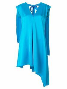 MSGM cape back asymmetric dress - Blue