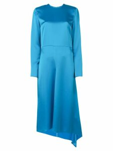 MSGM asymmetric midi dress - Blue