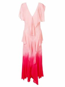 Attico ruffle tiered maxi dress - Pink