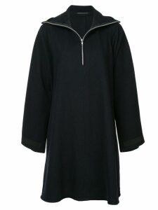 Yohji Yamamoto Pre-Owned high collar dress - Blue