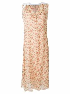 Miu Miu floral midi dress - Neutrals