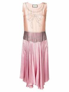 Gucci crystal-embellished dress - Pink