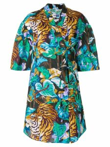 Kenzo shortsleeved shirt dress - Multicolour