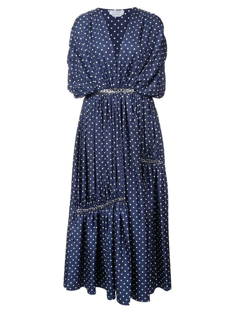Gabriela Hearst Winston polka dot dress - Blue