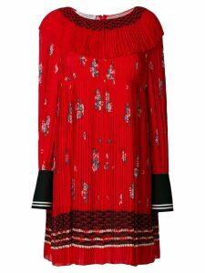 Philosophy Di Lorenzo Serafini zigzag embroidered pleated dress
