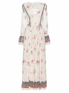 Philosophy Di Lorenzo Serafini V-neck floral print pleated dress -