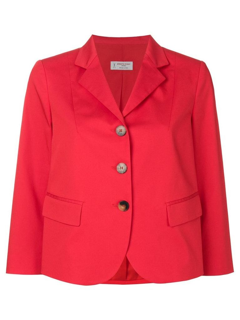 Alberto Biani single breasted blazer - Red