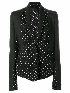 Haider Ackermann mixed fabric blazer - Black