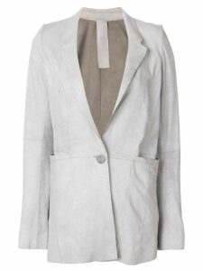Vanderwilt single fastening boxy blazer - Grey