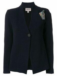 Armani Collezioni printed button blazer - Blue
