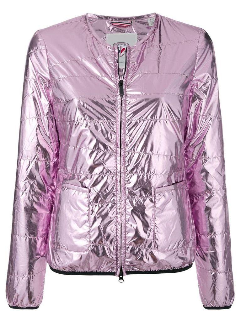 Rossignol collarless laminated jacket - Pink