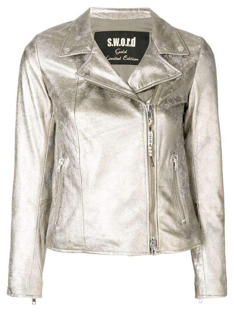 S.W.O.R.D 6.6.44 double-breasted zip jacket - Metallic