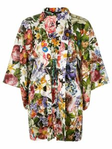 Ermanno Gallamini floral print kimono jacket - Multicolour