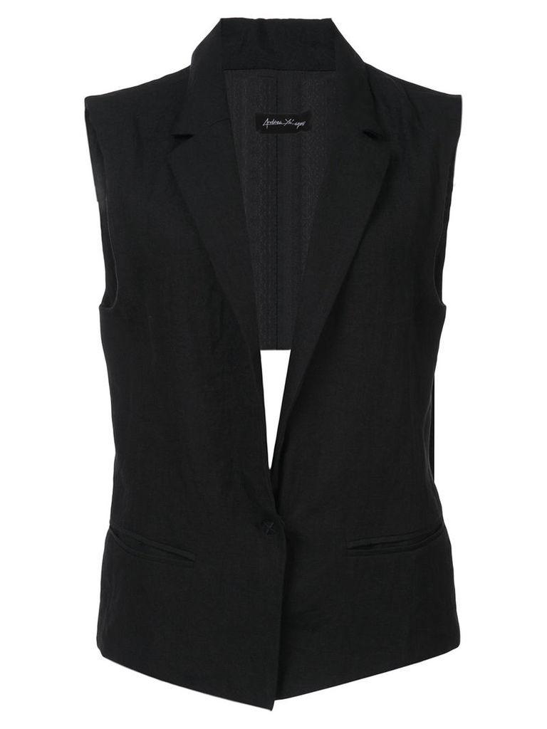 Andrea Ya'aqov sleeveless blazer - Black